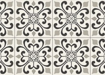 Amador Medallion Vinyl Sheet - Heirloom Gray