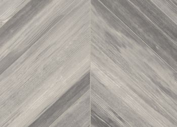 Chevron Forest Feuille de vinyle - Silver Fox