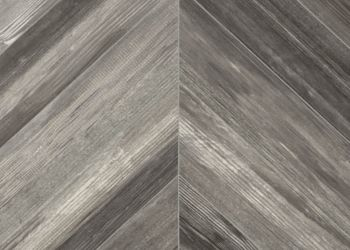 Chevron Forest Vinyl Sheet - Wolfe Gray