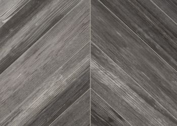 Chevron Forest Vinyl Sheet - Smokey Gray