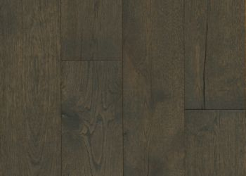 White Oak Engineered Hardwood - Deep Etched Iron Mountain