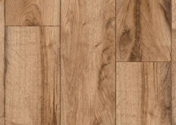 Rustic Oak Timber Vinyl Sheet - Natural
