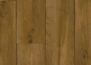 Rustic Oak Timber Vinyl Sheet - Chestnut Brown