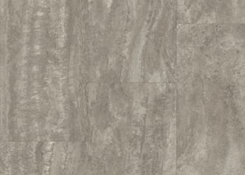 Vessa Travertine Feuille de vinyle - Carbide Charm