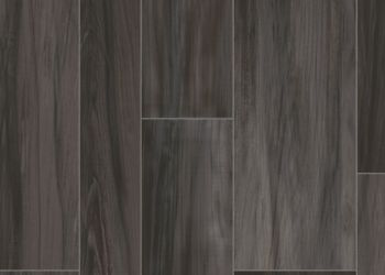 Ridge Plank Vinyl Sheet - Iron