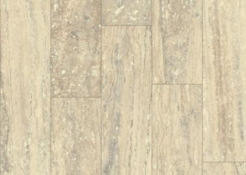 Mineral Travertine Vinyl Sheet - Almond Cream