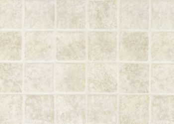 French Paver Vinyl Sheet - White
