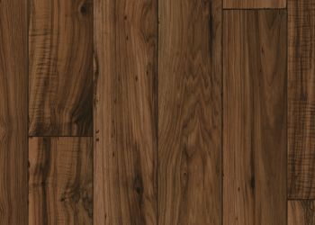 Distressed Hickory Vinyl Sheet - Walnut