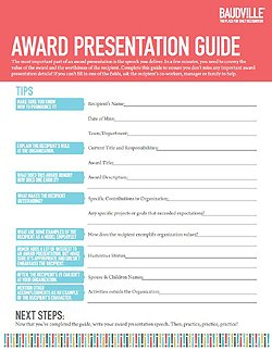 for Presenting an award speech template