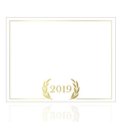 Foil-Stamped Certificate Paper -  2019 Laurels