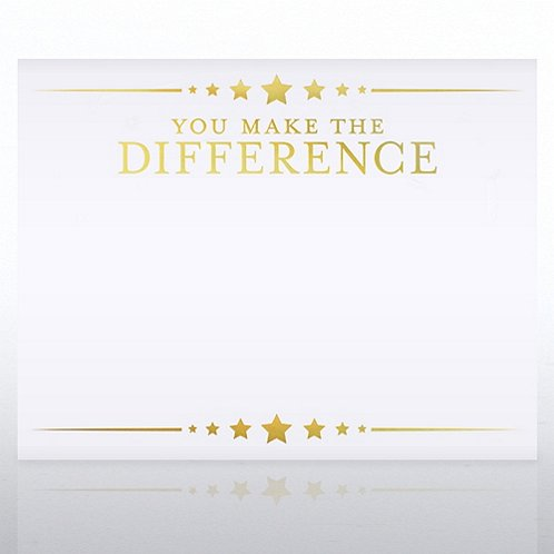 foil certificate paper you make the difference stars at