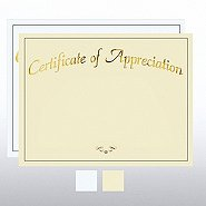 Foil Certificate Paper - Certificate of Appreciation