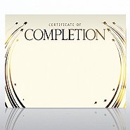 Foil-Stamped Certificate Paper - Completion - Cream