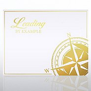 Foil Certificate Paper - Leading By Example Compass
