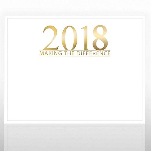 Foil Certificate Paper - 2018 Making the Difference - White