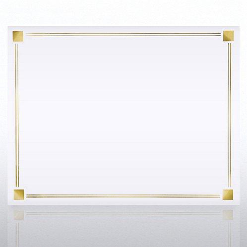 Foil Certificate Paper - Square Border