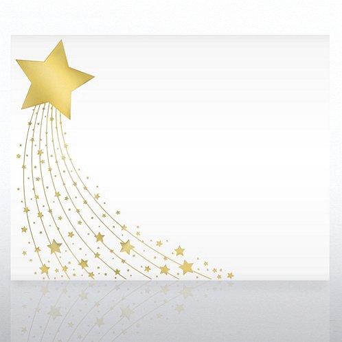 Foil Certificate Paper - Shimmering Star