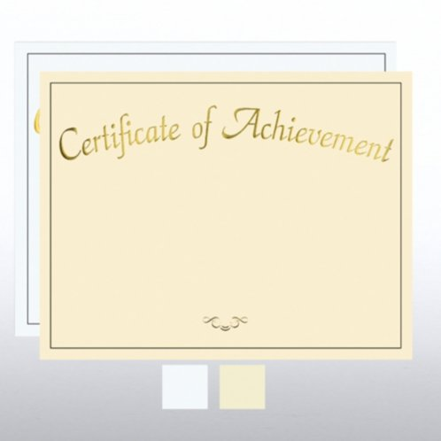 Foil Certificate Paper - Certificate Of Achievement At Baudville.Com