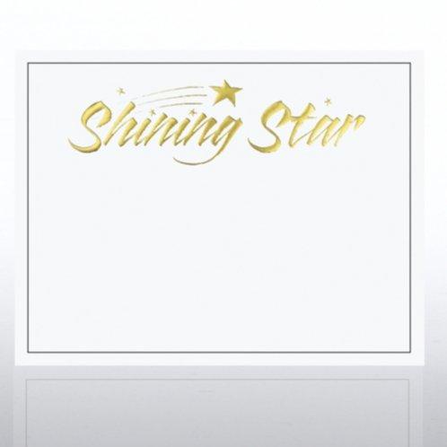 Foil Certificate Paper Shining Star White At Baudville Com