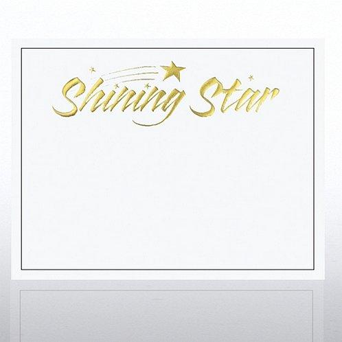 Foil Certificate Paper - Shining Star - White