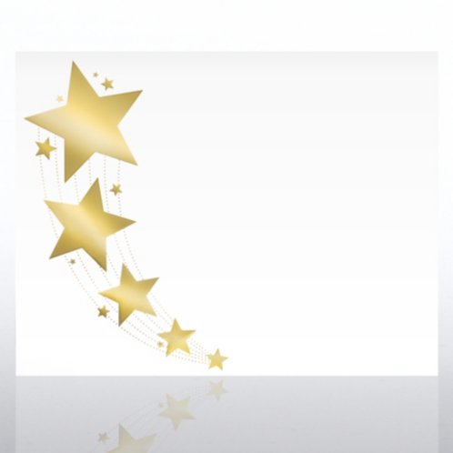 Foil Stamped Certificate Paper Shooting Star Border
