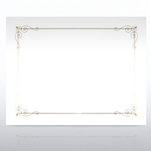 foil stamped certificate paper border design white