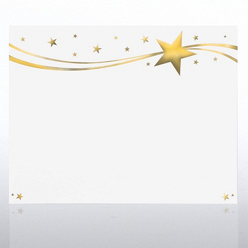 Foil Certificate Paper - Milky Way Stars - Gold at ...