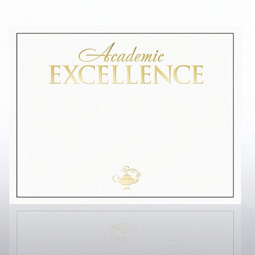 Foil Certificate Paper - Academic Excellence - White