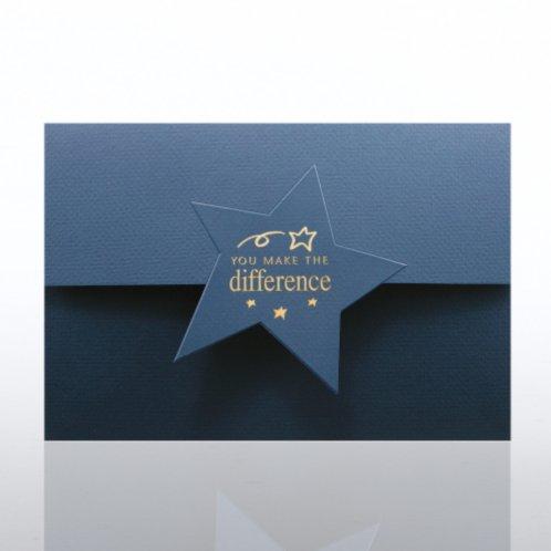 Certificate Folder - Half Size w/ Star Flap - YMTD - Blue