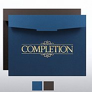 Completion Foil-Stamped Certificate Folder