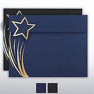 Foil Stamped Embossed Certificate Folder - Brilliant Star