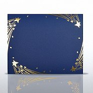 Stars Gold Foil Border Certificate Cover