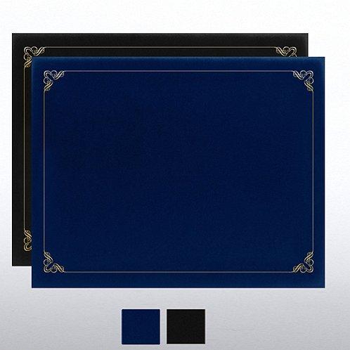 Ornament Gold Foil Border Certificate Cover