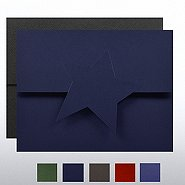 Embossed Star Certificate Folder
