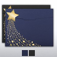 Foil-Stamped Certificate Folder - Shooting Star