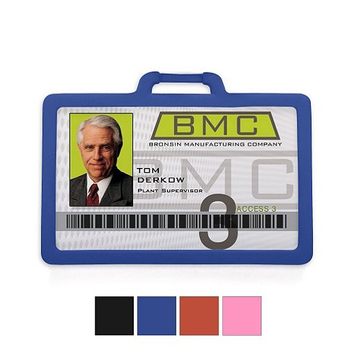Horizontal Silicone Badge Holder