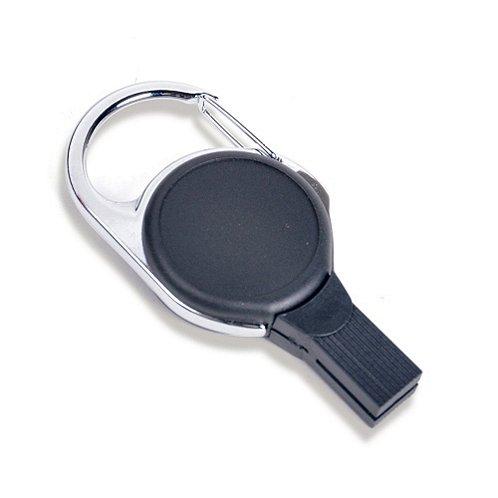 Badge Reel - Plastic Slot-free Carabiner - Black