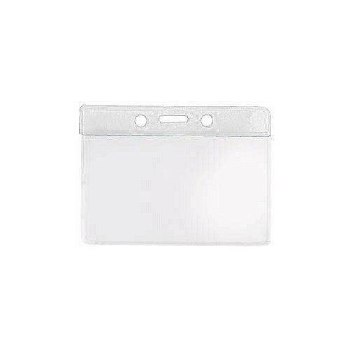 Badge Holder - Colored Bar - 3.5 x 2 Horizontal - Clear