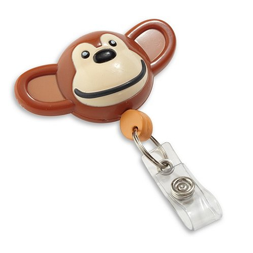 Pedia Pals Badge Reel - Monkey
