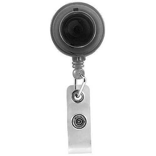 Badge Reel - Translucent - Black