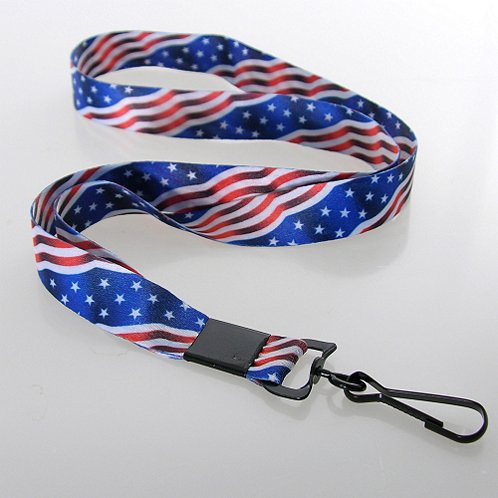 Themed Lanyard - Flag w/ Swivel Hook