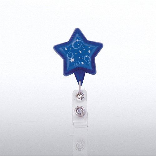 Themed Badge Reel - Star - Blue Stars