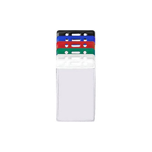 Colored Bar Badge Holders - Vertical Credit Card