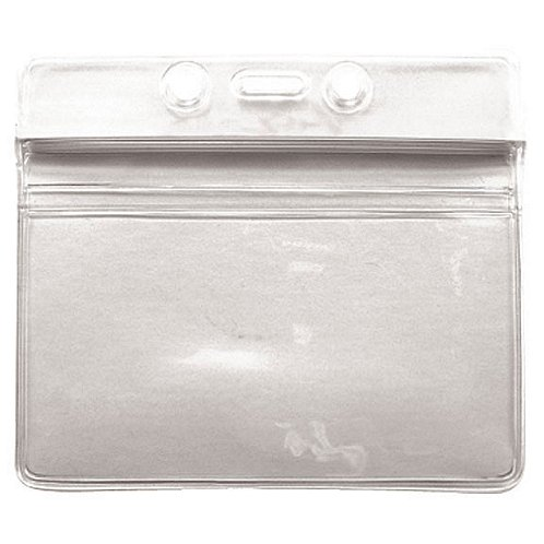 Badge Holder - Sealable - Horizontal - Clear