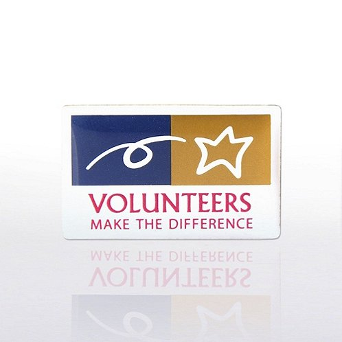 Lapel Pin - Volunteers Make The Difference - Multi-Color