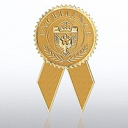 Certificate Seal with Ribbon - Excellence - Gold
