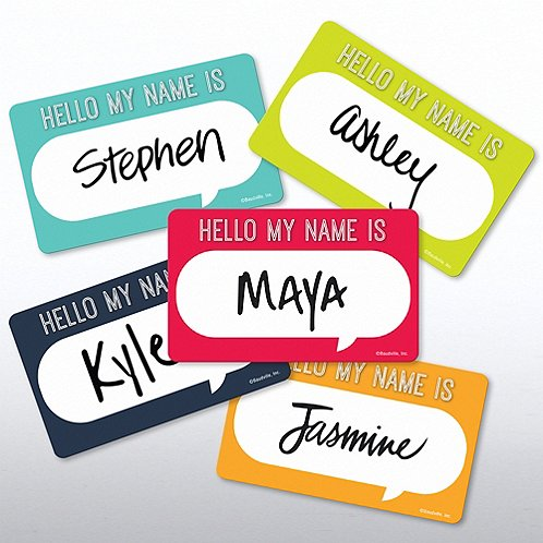 Casual Sticker Set - On Boarding - HELLO MY NAME IS...