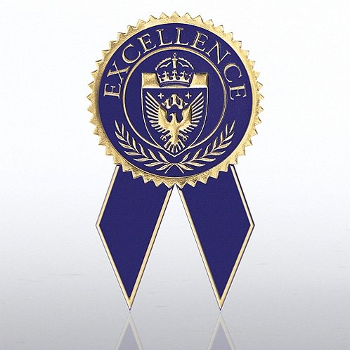 certificate seal with ribbon excellence blue gold at. Black Bedroom Furniture Sets. Home Design Ideas