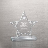 Etched Glass Award - Star Cluster
