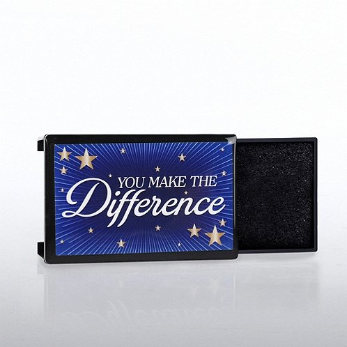 Lapel Pin Presentation Box - You Make The Difference